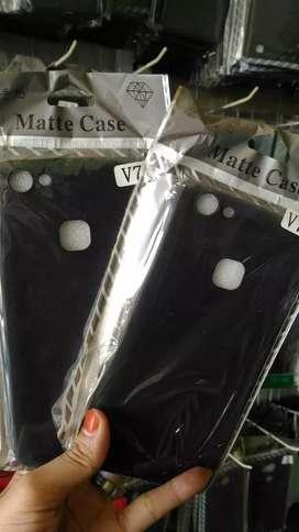 Softcase/Soft Case/Blackmatte/Black Matte Vivo V7 Plus