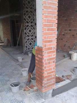 Pusat bata tempel expose terakota pengganti batu alam wallpaper roster