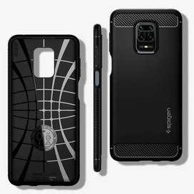 Case Redmi Note 9 / Pro / Max Spigen Rugged Armor Carbon Fiber Casing
