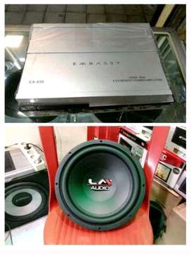Paket Embassy full Bass Power embassy 4 channel sub lm 12 in