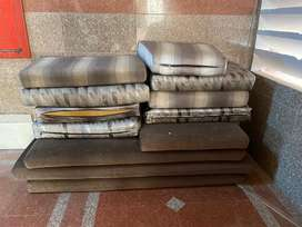 Sofa beds and cushions
