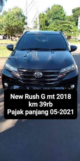 Toyota new Rush G mt 2018, Tangan pertama, km low, pajak panjang 05-21