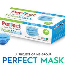 Perfect Face Mask, 3ply Surgical Disposable Face Mask