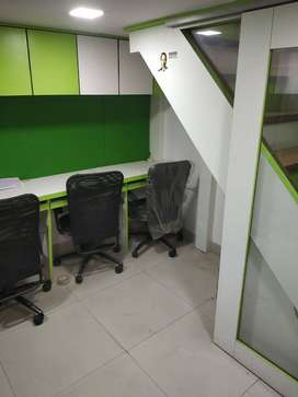 Fully furnished office space availble for rent .