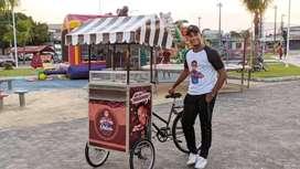 Box gerobak booth container stand cash cicil sewa