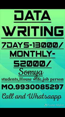 Homebased the work weekly salary:13000