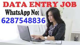 data entry job for house wives, students, unemployed person