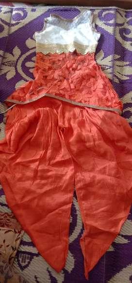 Dhoti pattern suit