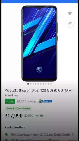 Vivo z1x 6+128gb