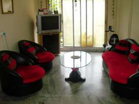 Tasteful interiors, semi furnished flat @45 lacs
