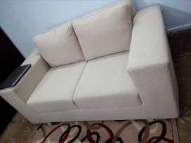 3 Months used 2 Seater Jute Fabric Sofa with Excellent Condition