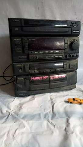 Radio tape aiwa 5disc bekas
