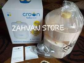 CROWN 6 Bottles Electric Steam Steriliser - Kuning