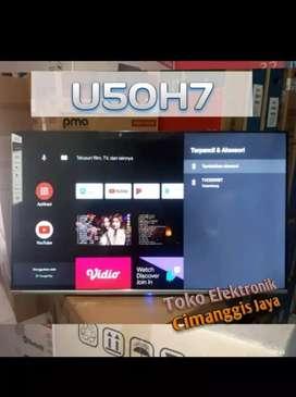 TOKO MURAH CIMANGGIS CHANGHONG 50 Inch U50H7 LED 4K Andr 9.0 Smart TV