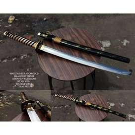 Samurai Wakizashi Dragon Gold