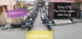 Used 2 wheeler available with easy EMI facilities.