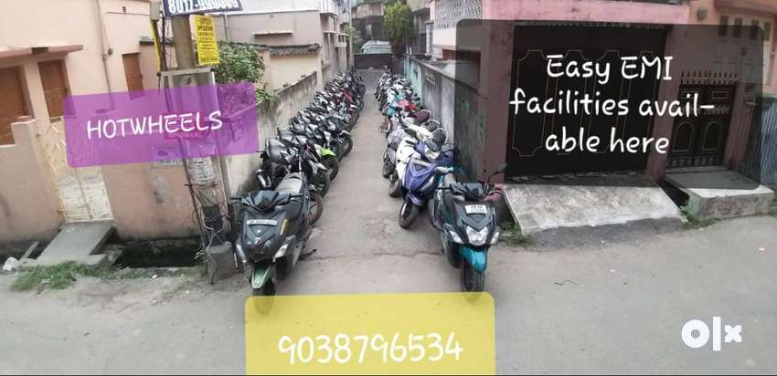 Used 2 wheeler available with easy EMI facilities. 0