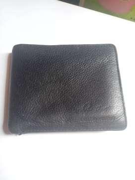 Dompet kulit Giorgio Agnelli hitam