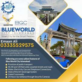 plots for sale in blue world city Islamabad