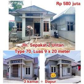Rumah baru dekat Kampus Untan dan Megamall. Type 70, 3 kamar tidur + D