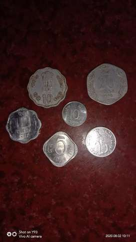 OLD COINS 5,10,20