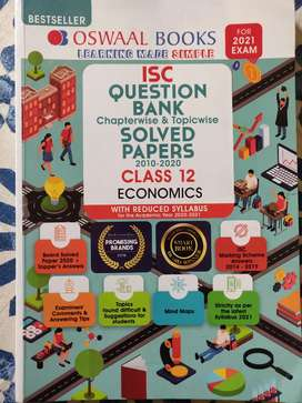 Oswaal Books ISC Question Bank & Solved Papers Class 12 Economics 2021
