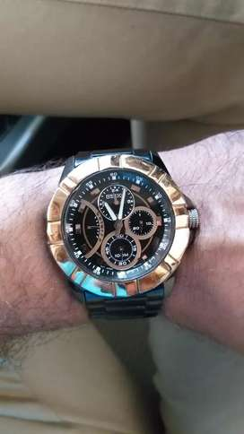Seiko watch black and gold,with other branded watch exchange also