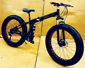 All New Fat Tyre Foldable Cycles With Dual Suspension