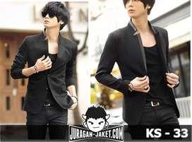 Blazer Black Casual Korean Style