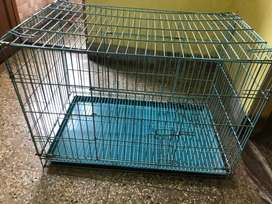 Dog Cage Along With Tray