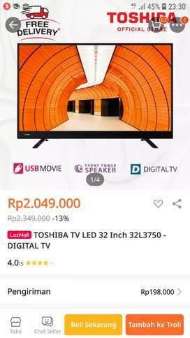 TV LED TOSHIBA 32INCH-DIGITAL TV MODEL:32L3750VJ