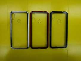 Case Xiaomi Redmi Note 7 Case Magnetic Tempered Glass Dan Metal Frame