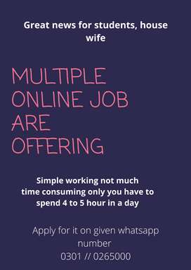 Great news for students housewife multiple online jobs are offering