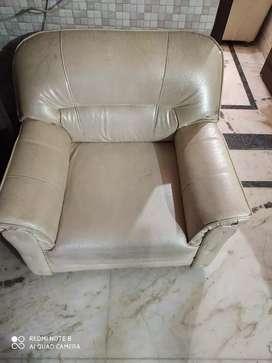 Sofa set five seats, White Colour.