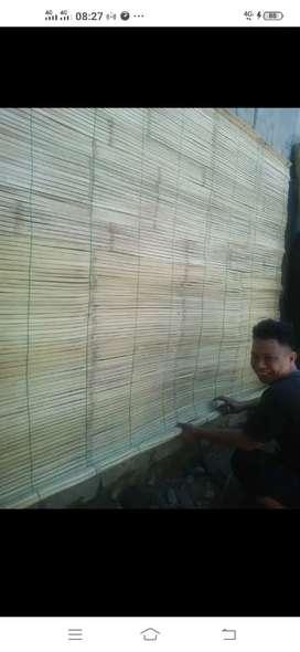 Tirai kulit bambu,tirai rotan,kayu