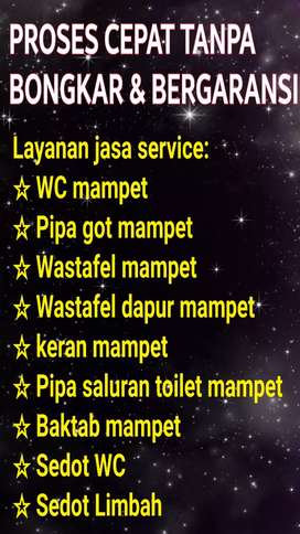 Tukang Atasi WC Pipa Got Wastafel Toilet Mampet   Jasa Sedot/Kuras WC
