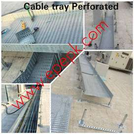 cable tray ladder perforated powder coated hotdip cable tray unistrut
