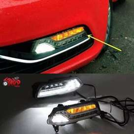 Polo ameo led fog lights with DRL and Matrix indicators