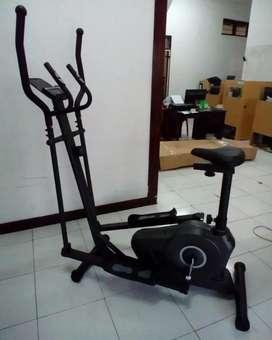 Sepeda statis magnetik tipe eleptical ( aerobic+jogging)