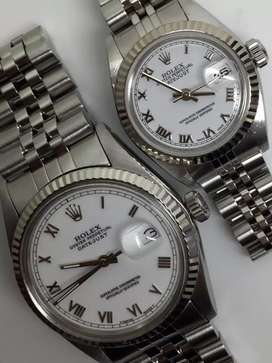 PROMO Rolex sepasang Men and ladies Putih Romawi