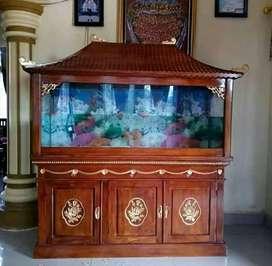Meja aquarium jati Jepara bufet