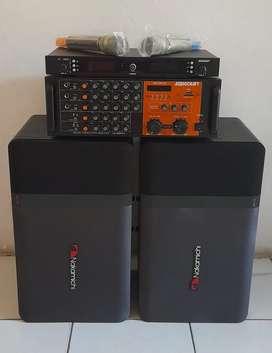 Satu Set Sound System (Audiocraft+Wireless Mic dan Speaker Nakamichi)