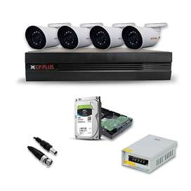 CPPLUS HD CCTV Security Camera Combo Set Night Vision 2.4 mp, Bullet