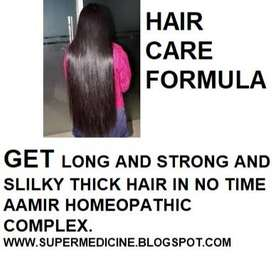 LONG STRONG AND SILKY HAIR HOMEOPATHIC FORMULA FOR GIRLS