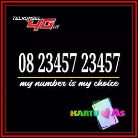 As cantik kartu perdana telkomsel abcde 2345 sakti combo 23457