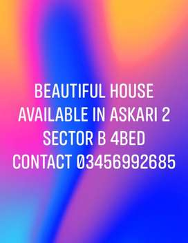 Beautiful house availble for Rent in askri2 sector B
