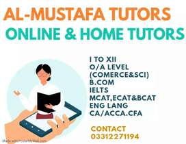 Best Home Tutors & Online Tutors Available-O/A Levels,IGCSE,FSC,IELTS