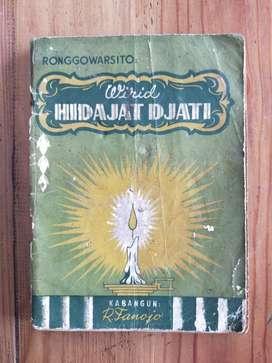 Buku Antik Ronggowarsito Wirid Hidajat Djati Cetakan 1954