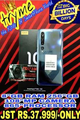 TRYME 256GB 5G MI 10,108Mp Amazing Camera 865 Processor fUll Kit Box