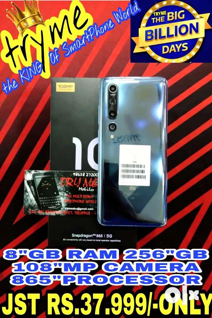 TRYME 256GB 5G MI 10,108Mp Amazing Camera 865 Processor fUll Kit Box 0